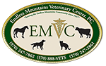 Small Endless Mountain Veterinary Center Logo