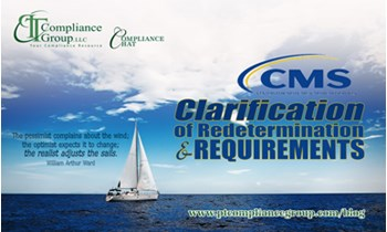 CMS Clarification of Redetermination & Reconsideration PT Compliance Group