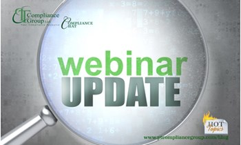 Webinar Update - PT Compliance Group