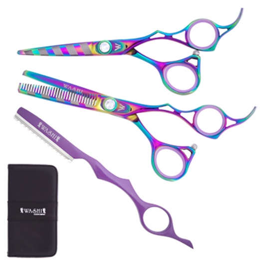 Washi A15 R Rainbow Zebra Matching Set Matching Scissor Sets