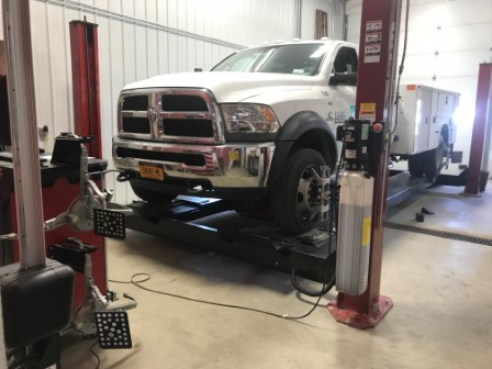 Alignment on a Fully Loaded Ram 5500 with 198 Inch Wheelbase