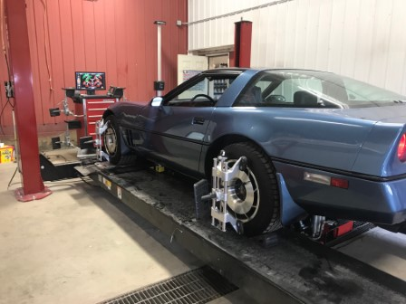 '85 Corvette Requiring Precise Alignment