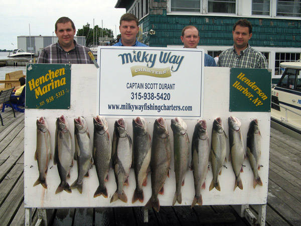 Henderson Harbor Fishing with Milky Way Charters - Matt Zehr Party with Lake Trout Limit!