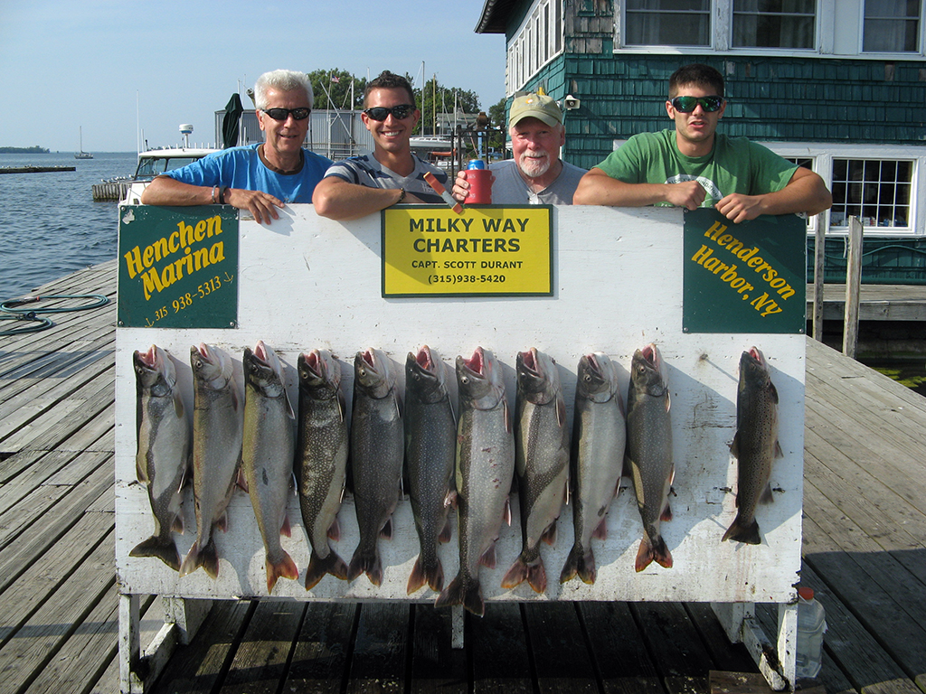Henderson Harbor Fishing with Milky Way Charters - Tom Channell with Laker Limit and 1 Brown