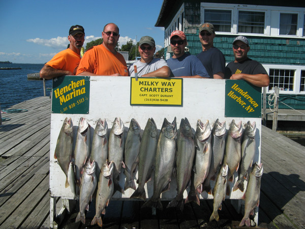Henderson Harbor Fishing with Milky Way Charters - Ben Pate Party with Lakers and Kings!