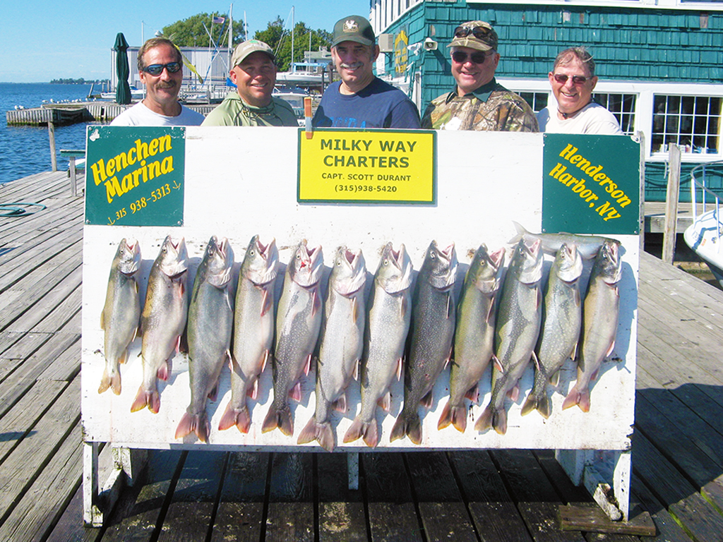 Henderson Harbor Fishing with Milky Way Charters - Titus Mast Party with Lake Trout limit!