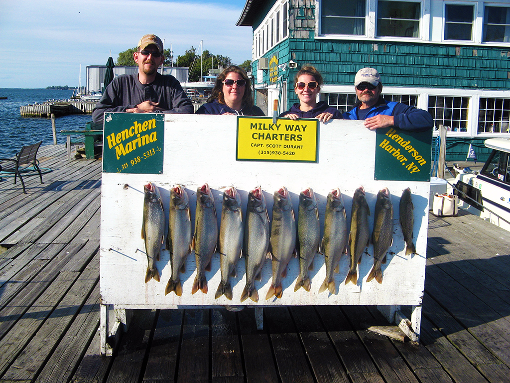 Henderson Harbor Fishing with Milky Way Charters - Bob Wright party with Lake Trout Limit!