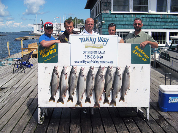 Henderson Harbor Fishing with Milky Way Charters - North Country Storage Barn Crew with Catch!