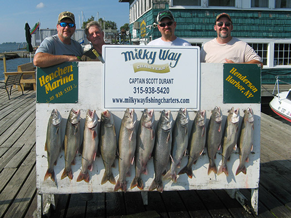 Henderson Harbor Fishing with Milky Way Charters - Rick Welsh Party With Lake Trout Limit!