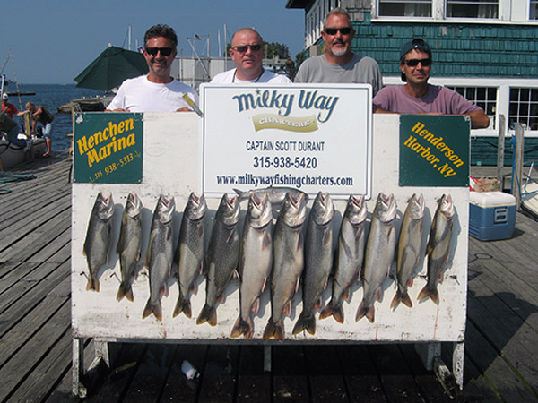 Henderson Harbor Fishing with Milky Way Charters - The NJ Boys With Lake Trout Limit!