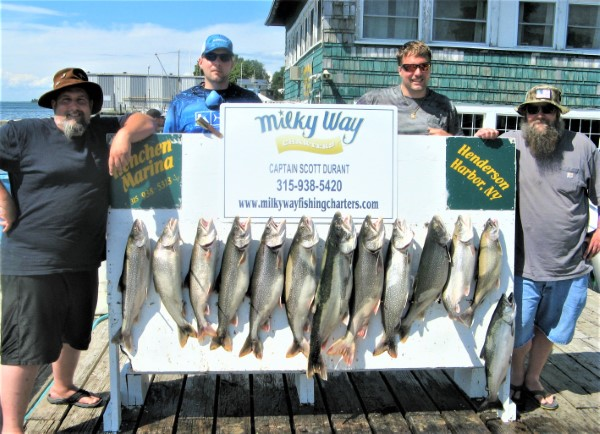A Lake Trout Limit & 1 King for the Mike Dominianni Party!