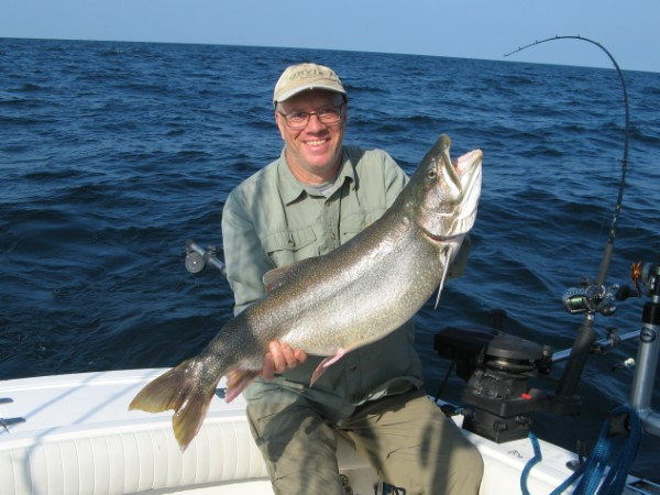 Bob With His 21 Pound Lunker Laker!