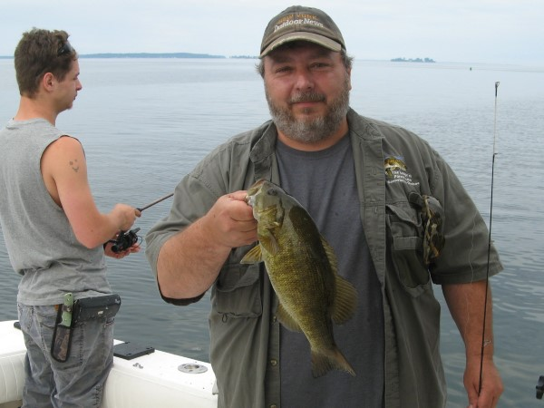 Dan Holding a Nice Bass!