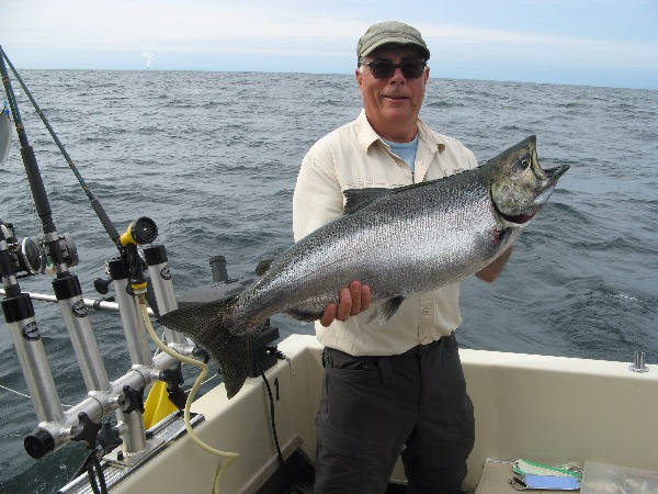 Ed Displaying a Big King Salmon!