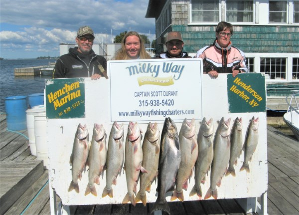 Lake Trout Limit & King for Brittany Johnson Party!