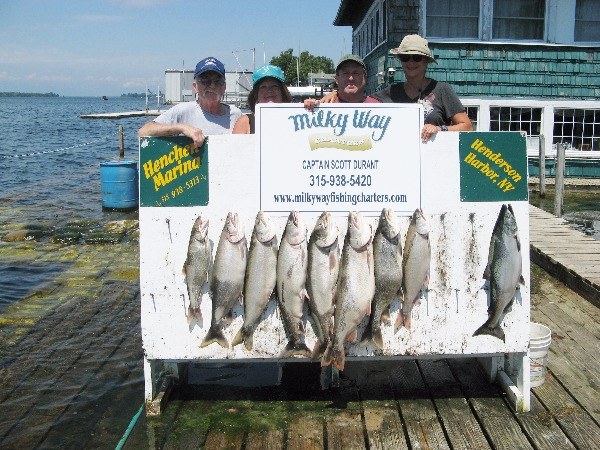 Martha Chesley Party with Lake Trout Limit Plus King