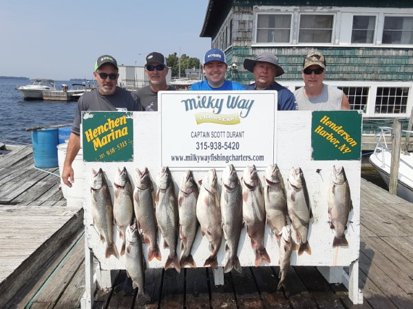 Scott Lillie Party With Lake Trout Limit & a Brown!
