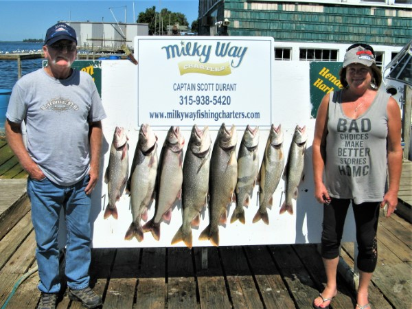 The Chesley's With Lake Trout Limit!