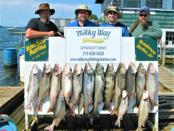 The Dominianni Party with Lake Trout Limit, 2 Mature Kings & 18 Lb Brown Trout!