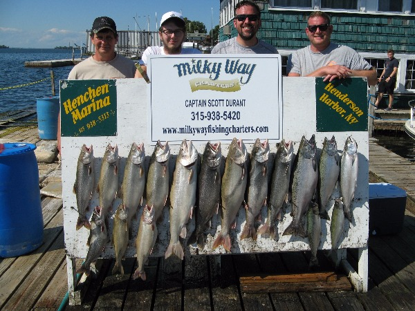 The Gary Campany Party with Catch of 12 Trout and 4 Kings!