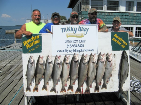 The Ken Sherwood party with Lake Trout Limit & 1 King!