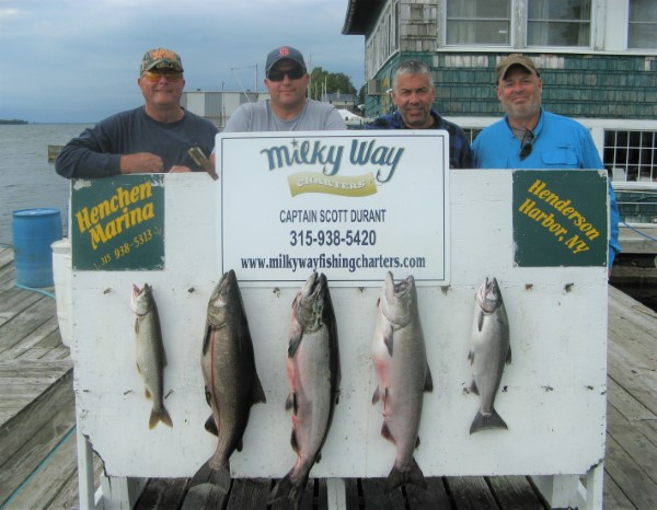 The Larry Snedeker Party With 3 Kings, 1 Coho & 1 Lake Trout!
