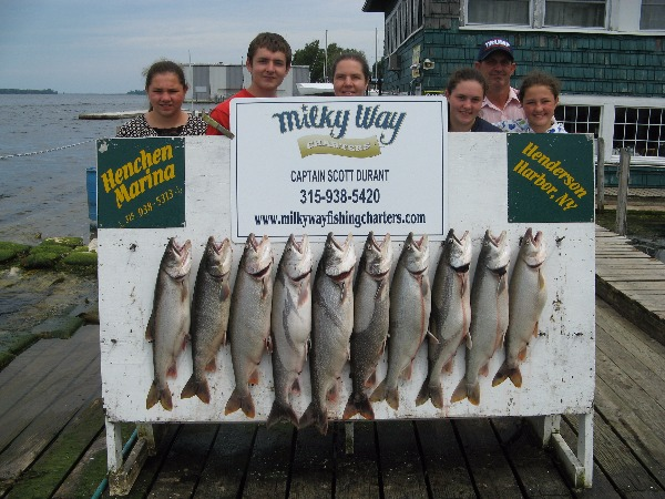 The Mark Widrick Family with Their Catch of Big Lakers!