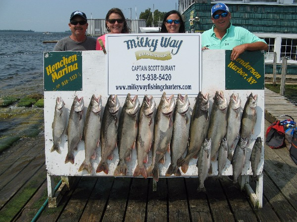 The Pleasants and Millers with Lake Trout Limit  Skipper Salmon!