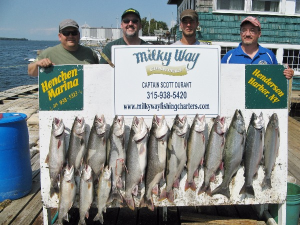 The Rick Welsh Party With 12 Trout, 1 King and 2 Coho Salmon!