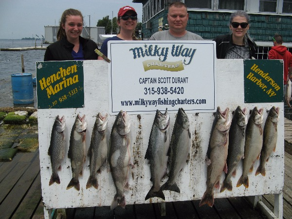 The Shepard Family with Lake Trout Limit  Two Mature Kings!
