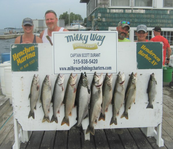 The Warren Coughlin Party With 8 Trout, 1 King & 1 Brown!