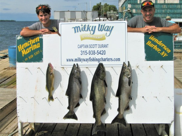Zach & Bill's Catch of 3 Big Kings & Walleye!