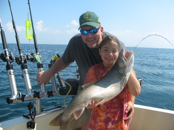 Anna Showing Off Her Big Lake Trout!