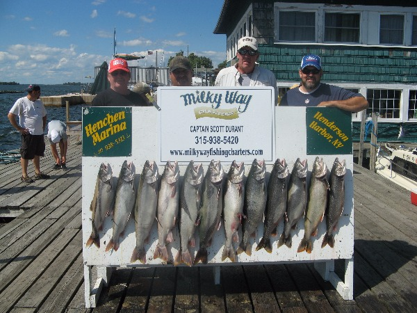 Charles Stratton Party With Limit of Lake Trout!