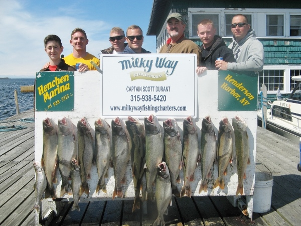 The John Reynolds party with Lake Trout limit!