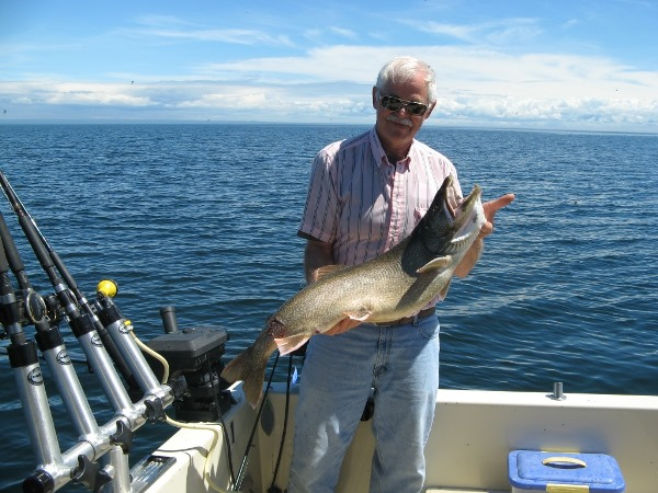 John showing off his 21 pound Lake Trout!