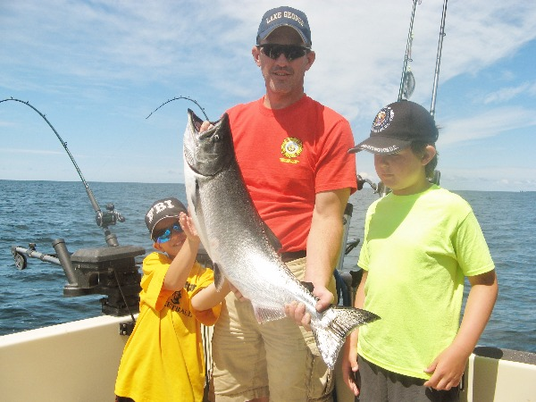 Kevin & Boys With Lunker Lake Trout!