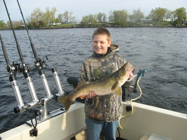 Scott Showing Off His 10 lb. Walleye!