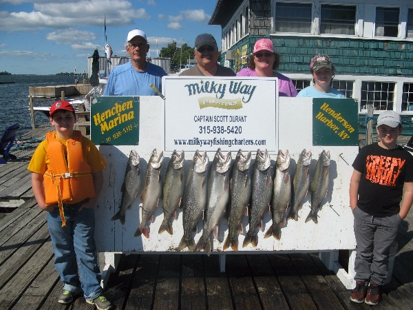 The Julie Davis Family With Their Catch of Lake Trout!