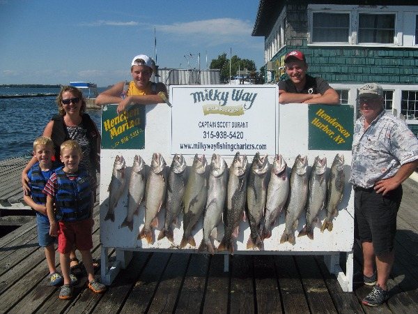 The Mike Fontaine Family with Lake Trout Limit!