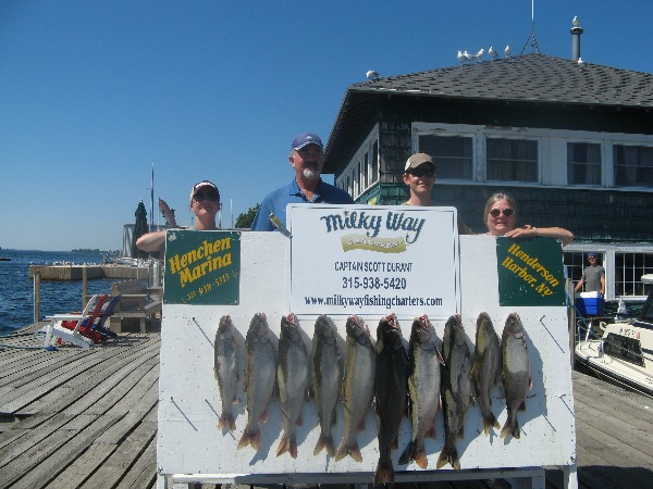 The Muhasky Family With Lake Trout Limit!
