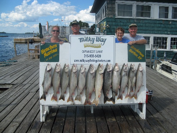 The Shirley Thiessen Party With Lake Trout Limit!