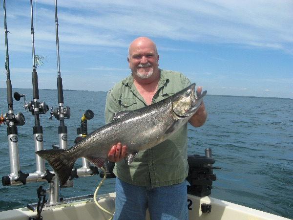 Tom Showing Off 22 lb. King!