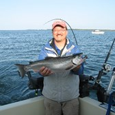 Roger Holding a Coho Salmon!