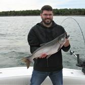 Steve Displaying a Coho Salmon!