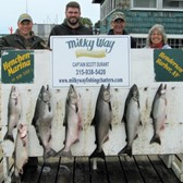 The Gillette Party With Catch of 6 Salmon & 1 Lake Trout!