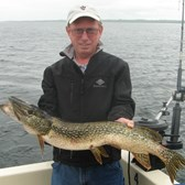 Henderson Harbor Fishing with Milky Way Charters - John holding his Northern