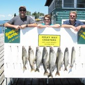Henderson Harbor Fishing with Milky Way Charters - The Tom Gordon charter with limit of Lakers