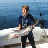 Anthony With A Big Lake Trout!