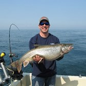 Brian Displaying His 16 lb. Lunker Lake Trout!